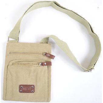Handy Unisex lærred skulder Cross Body taske - sort