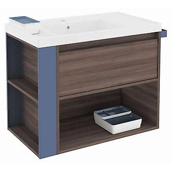 Bath+ 1 Drawer Cabinet + Shelf With Resin Basin Fresno-Blue 80CM