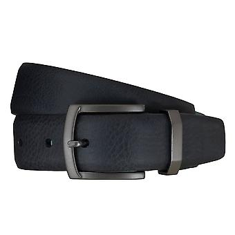 SAKLANI & FRIESE belts men's belts leather belt blue 5124