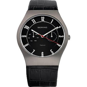 Bering mens watch wristwatch slim classic - 11939-472 leather