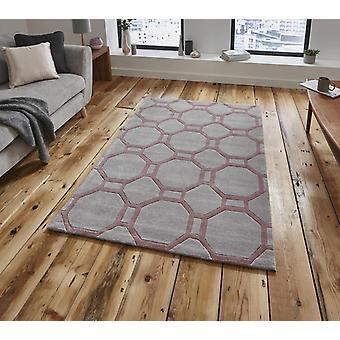 Nobel Haus 4338 grau Rose Rechteck Teppiche Plain/fast nur Teppiche