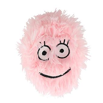 Children's 6 Inch Inflatable Neon Baby Pink Smiley Funny Face Furry Ball With Eyes