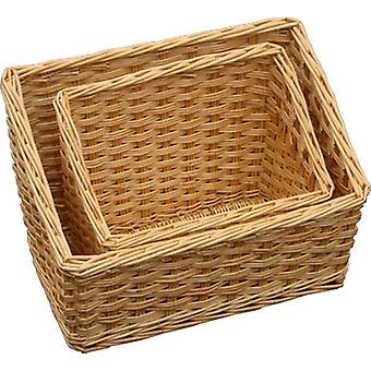 Großen geneigten Wicker Display Tabletts
