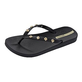 Ipanema Premium Love Knot Womens Flip Flops / Sandals - Black