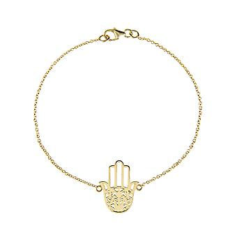 Latelita 925 Sterling Silver Hamsa délicate main Fatima Bracelet Or Rose