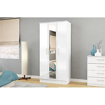 Birlea Lynx 3 Door Mirror White