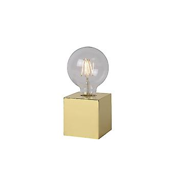 Lucide CUBIDO Table Lamp E27/5W Incl H19 Ø9.5cm Brass
