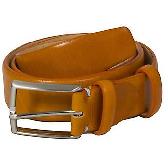 40 Colori Venezia Florentine Leather Belt - Orange
