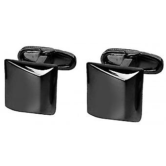 denisonboston Stealth Moderno Square Cufflinks - Black
