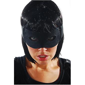 Máscara de zorro negro máscaras con cintas