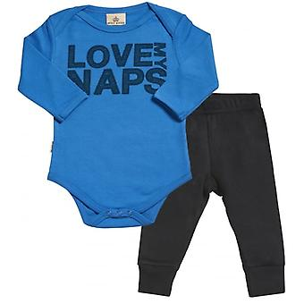Spoilt Rotten Love My Naps Babygrow & Jersey Trousers Outfit Set