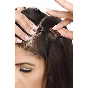 Boolavard® TM 50pcs U Shape Snap Clips for Hair Extensions,snap clip,single clip,Dark Brown