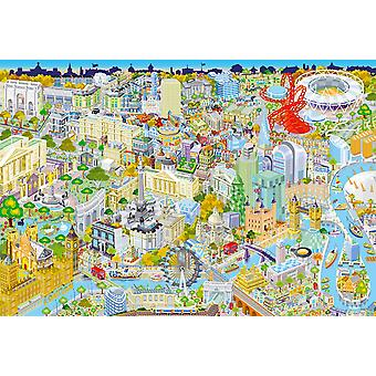 Gibsons London from above Jigsaw puzzel (500 stukjes)