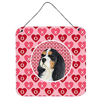 Cavalier Spaniel Valentine's Love and Hearts Wall or Door Hanging Prints