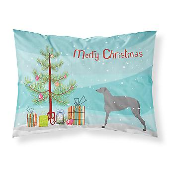 Scottish Deerhound Merry Christmas Tree Stoff Standard Kissenbezug