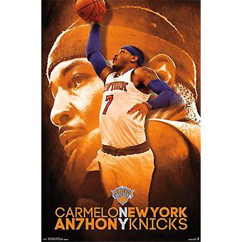 New York Knicks - C Anthony 14 Poster Poster Print