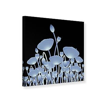 Canvas Print Futurist Flowers