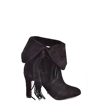 Protection women's MCBI364003O Black Suede Ankle Boots