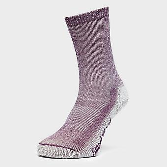 New Smartwool Women's Hiking Medium Crew Socks Purple
