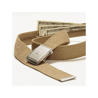 N belts to hide money. Beige. (Safe Belt)