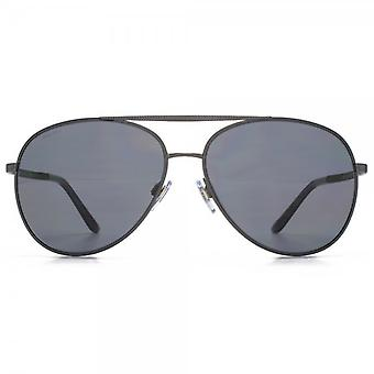 Giorgio Armani Pilot Sunglasses In Matte Grey Polarised