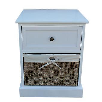 Seul tiroir en bois blanc chevet armoire