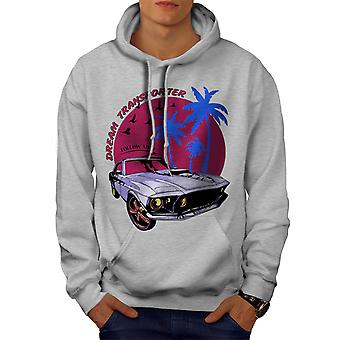 America Muscle Car Men GreyHoodie | Wellcoda