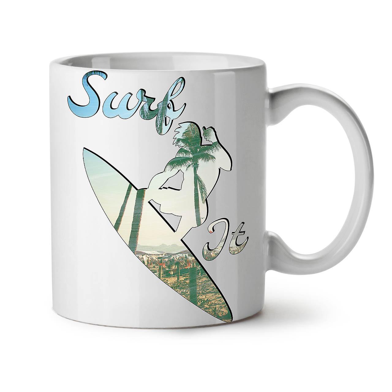 Surf OzWellcoda Nouveau 11 Thé Plage Mer Tasse Blanc Café Il Céramique 0X8wPOnk