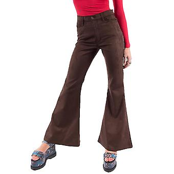 70s stil Scuba mocka Bell-Bottoms bred Retro bloss - Brown