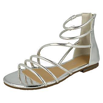 Las señoras sabana plana del gladiador sandalias F0974