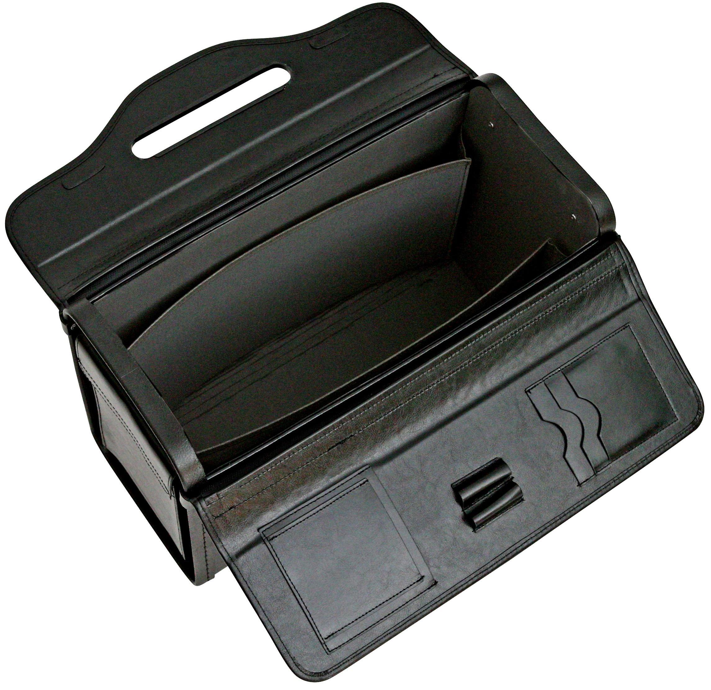 Collé le sacage à main porte-docuHommests en cuir pilote affaire médecin vol cabine affaires sac