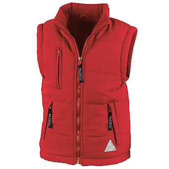 Result Junior Childrens Boys and Girls Hooded Windproof Bodywarmer Gilet