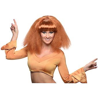 Go Disco 1970s 1980s Go Go Dance Retro Brown Womens Costume Wig