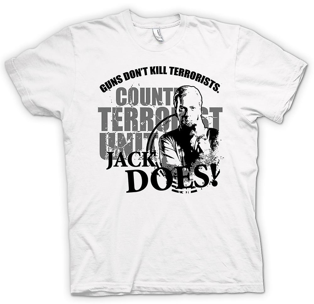 Womens T-shirt - Jack Bauer 24 Guns Don't Kill - Funny