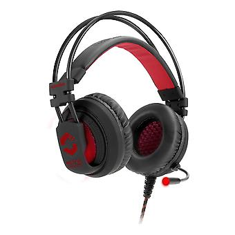 ماكستير Speedlink الألعاب ستيريو سماعة الرأس الأسود الأحمر (SL-860002-BK)