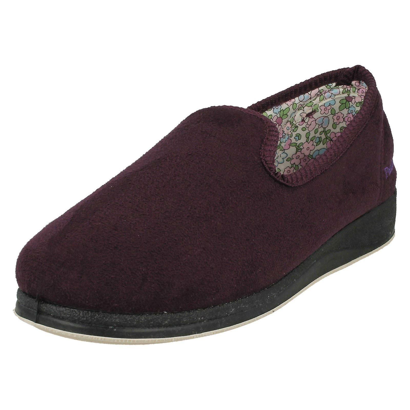 Ladies Padders Slip On Slipper Shoes Textile Repose 18 - Purple Textile Shoes - UK Size 4 2E - EU Size 37 - US Size 6 60725f