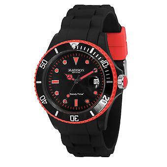 Candy tijd door Madison N.Y.. horloge unisex U4485-45-1 roze