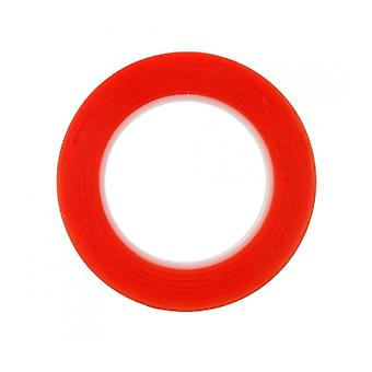 Red Double Sided Adhesive Tape 2mm 25M