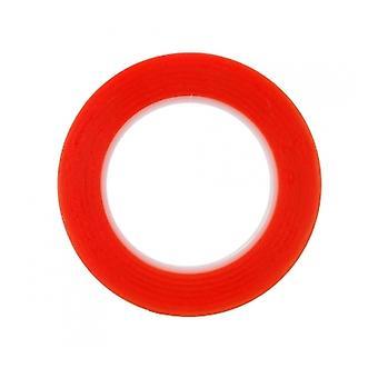 Rød dobbelt sidet selvklæbende Tape 1mm 25M