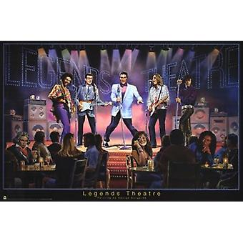 Legends Theatre Poster Poster Print by George Bungarda