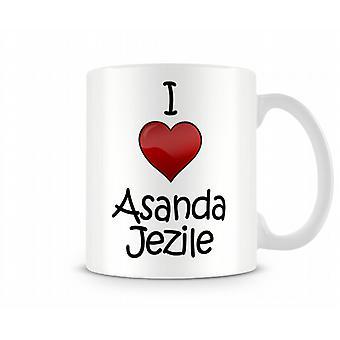 Jag älskar Allan Jezile tryckta mugg