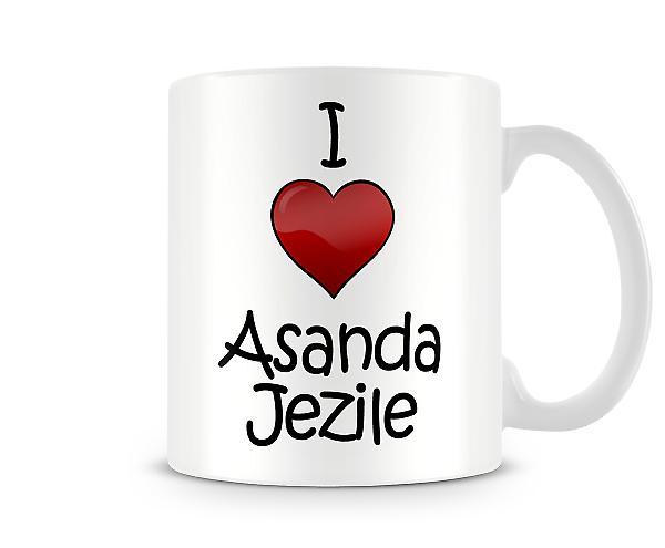 Jeg elsker Asanda Jezile trykte krus
