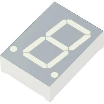 Kingbright Seven-segment display Red 20 mm 2 V No. of digits: 1 SC08-11EWA