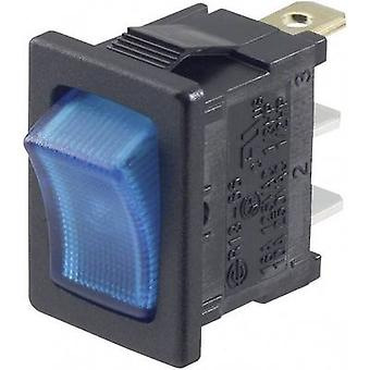 SCI Toggle switch R13-66B-02 LED 12 V 12 Vdc 16 A 1 x Off/On latch 1 pc(s)