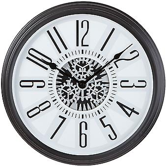 Wall clock clock quartz designer watch with skeleton gear train