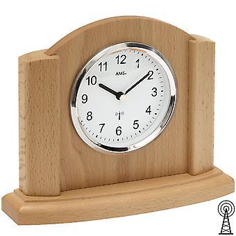 Radio table clock table clock radio cabinets beech massive clock shelf clock