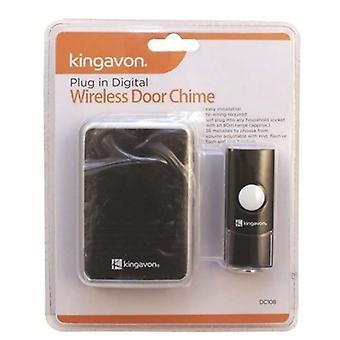 Kingavon Plug i Digital trådløs dør klokkespill utendørs hjem