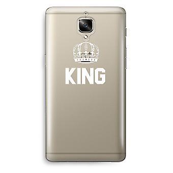 OnePlus 3 Transparent Case (Soft) - King black