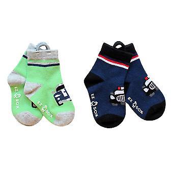 Boys Cars EZ SOX Socks - 2 Pairs, Age 2 - 3 Years