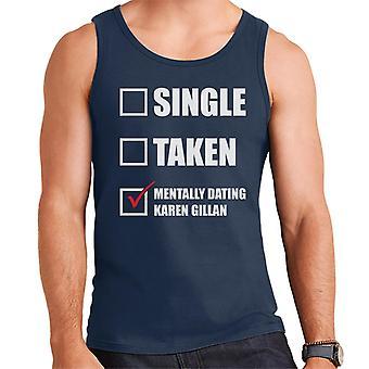 Mentally Dating Karen Gillian Men's Vest